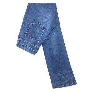 MiH jeans 27 London mid rise boot cut medium blue